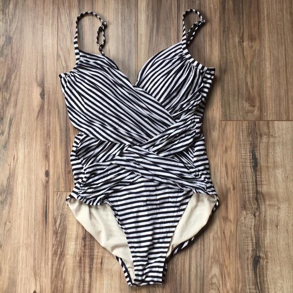 975e58fed4813 Merona Swim | Blackwhite Striped One Piece Bathing Suit | Poshmark